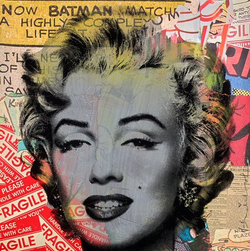 Marilyn Monroe   by Mr Brainwash - Unique
